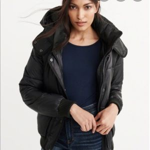 Abercrombie and Fitch fleece lined puffer jacket